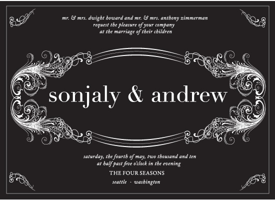 wedding invitations - Midnight In Monaco by Sunflower