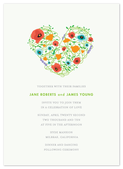 wedding invitations - Blooming With Love by Evelyn