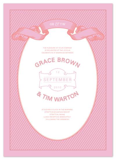 wedding invitations - simply striped by Jessie Breines Burns