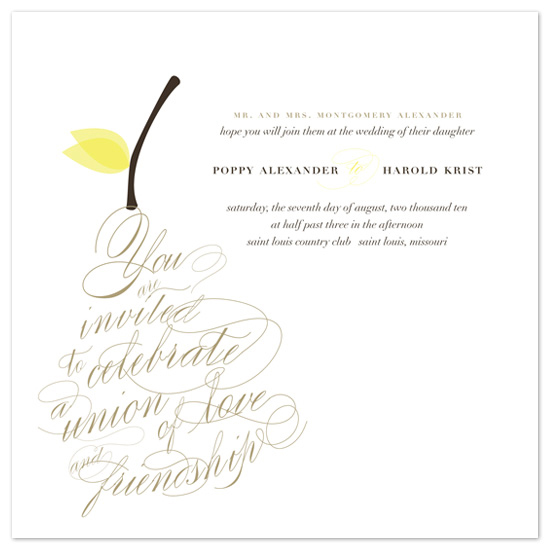 wedding invitations - Pear Nouveau by Emily Ranneby