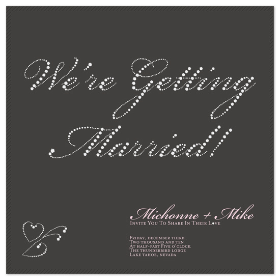 wedding invitations - Lots and Lots of Diamonds! by Alister Lee