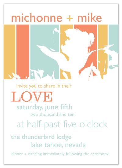 wedding invitations - Floral Sunset by gibberish ink