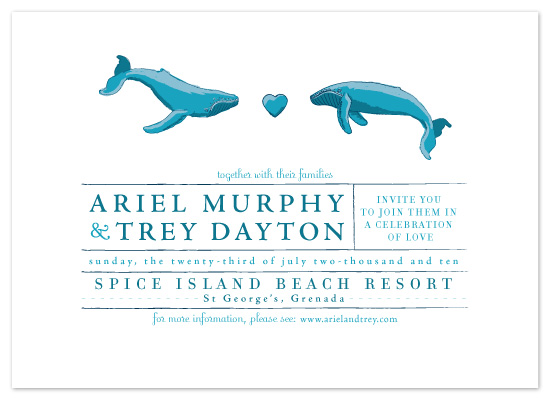 wedding invitations - Whale Love by 2birdstone