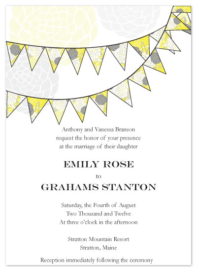 wedding invitations - Flagged Flora by Melissa DeBuck