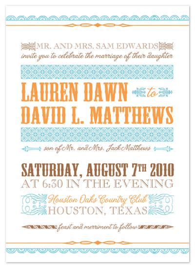 wedding invitations - Modern Playbill by Peach Blossom Paperie