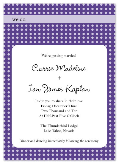 wedding invitations - We do polkadots by Melissa DeBuck