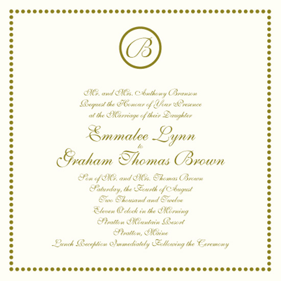 wedding invitations - Bridal Dots by Baci Designer