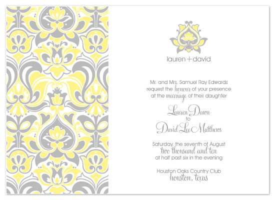 wedding invitations - Retro Sunshine by Peach Blossom Paperie