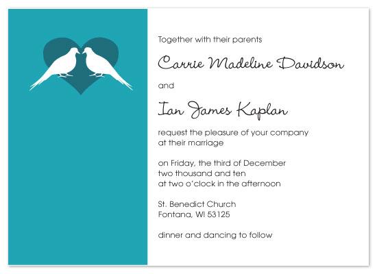 wedding invitations - Love Birds by Melissa DeBuck