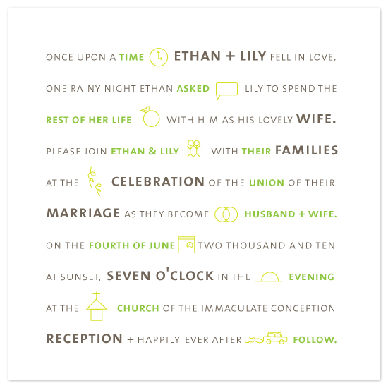 wedding invitations - picture perfect by R studio
