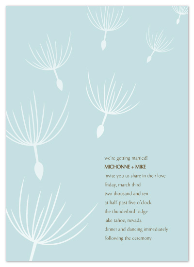 wedding invitations - Dandelion Drift by The Speckled Duck