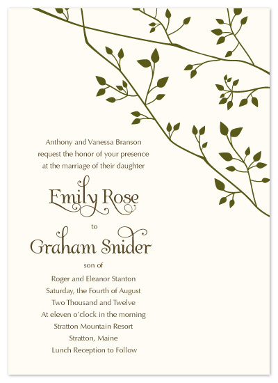 wedding invitations - First Spring Branches by The Speckled Duck