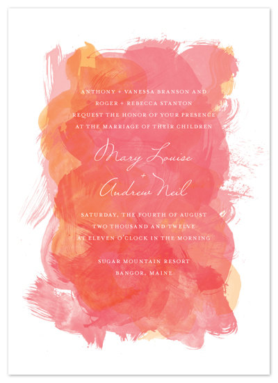 wedding invitations - Aquarelle by Paper Plains