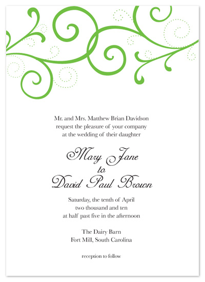 wedding invitations - Sophisticated Swirls by Megan Bryan