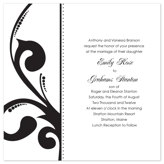 wedding invitations - Side Scroll with Dots by The Speckled Duck