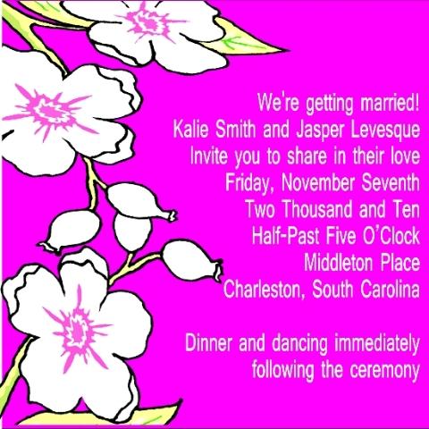 wedding invitations - PINK FLORAL INVITATION by ERIN MCKENZIE