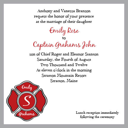 wedding invitations - Firefighter Wedding by branovy creative