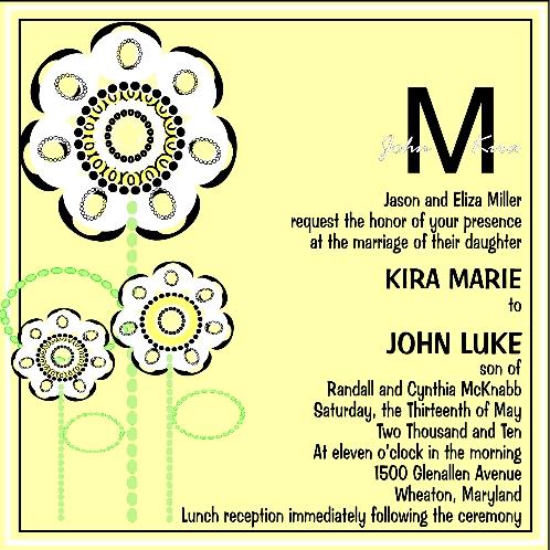 wedding invitations - CREATIVE FLOWER DESIGN INVITATION by ERIN MCKENZIE