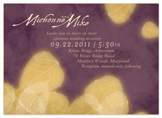 wedding invitations - Autumn Purple Fire by www.project1128.com