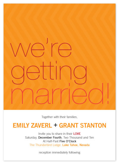 wedding invitations - Bright Zig Zag Design by .Laura Hippe.