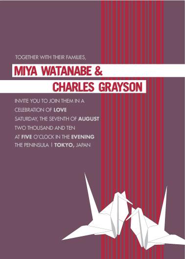 wedding invitations - Paper Cranes by Marina D. Valencia