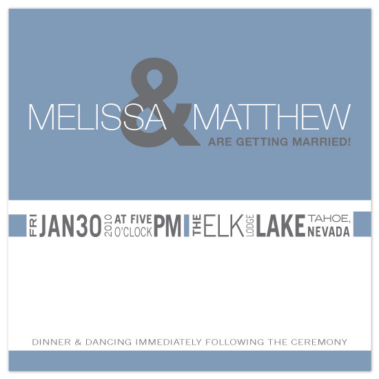 wedding invitations - Simple Block Modern by .Laura Hippe.