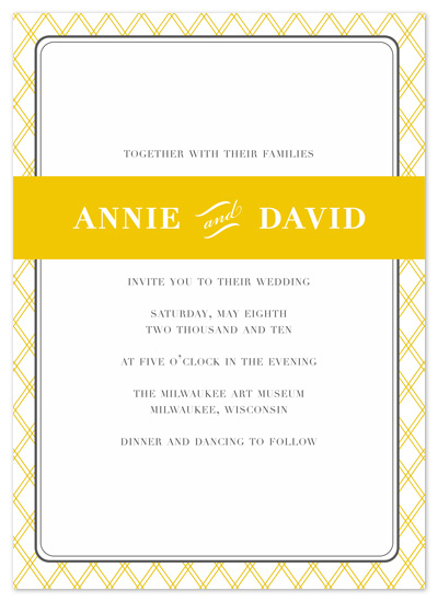 wedding invitations - Modern Prep by Cracked Designs
