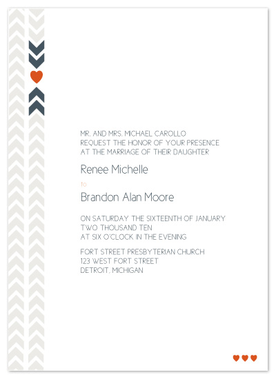 wedding invitations - The Renee by .cevd.