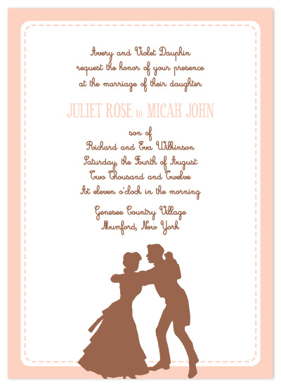 wedding invitations - Colonial Curtsy by Lucy Limelight