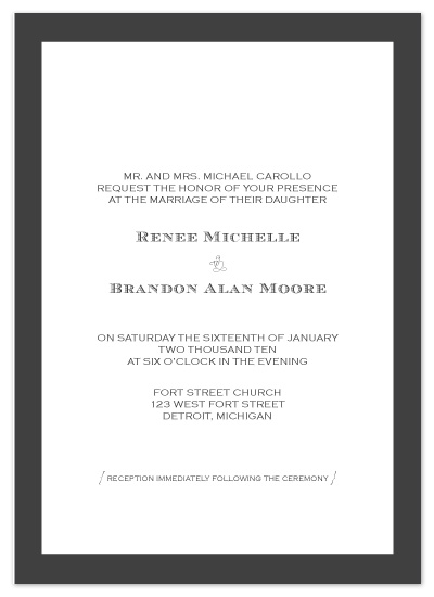 wedding invitations - The Michelle by .cevd.