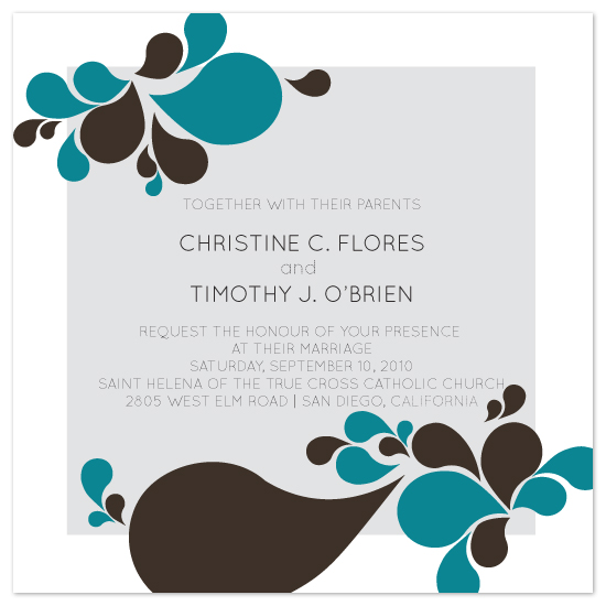 wedding invitations - Petals by Christine O'Brien