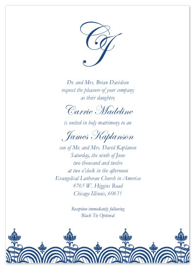 wedding invitations - Initial Elegance by Kerry Batty