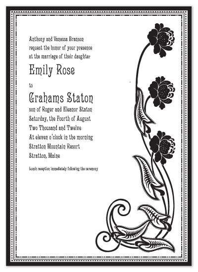 wedding invitations - Deco Rose by Kerry Batty