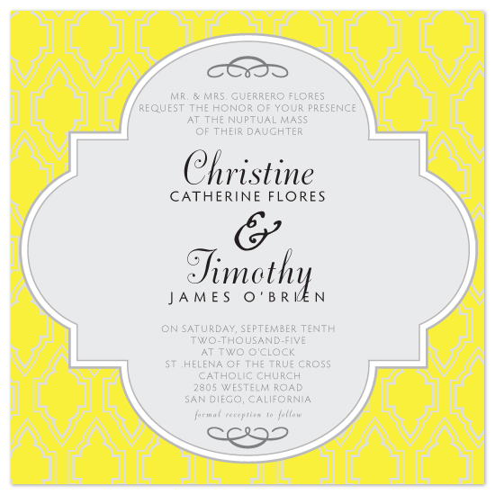 wedding invitations - Modern Moroccan by Christine O'Brien
