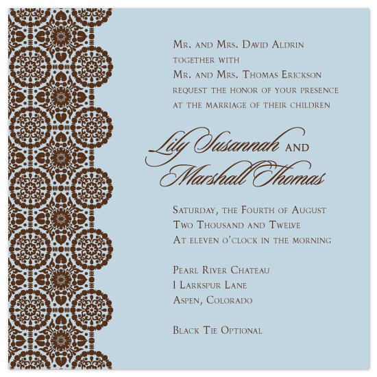 wedding invitations - Tried and Trim by Lucy Limelight