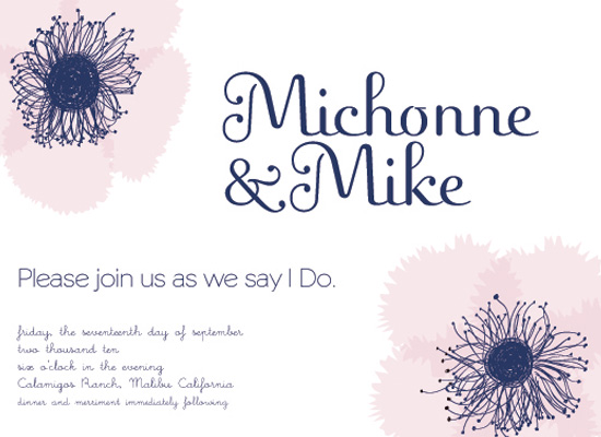 wedding invitations - ScribbleFlowerLove by Paola Carpintero