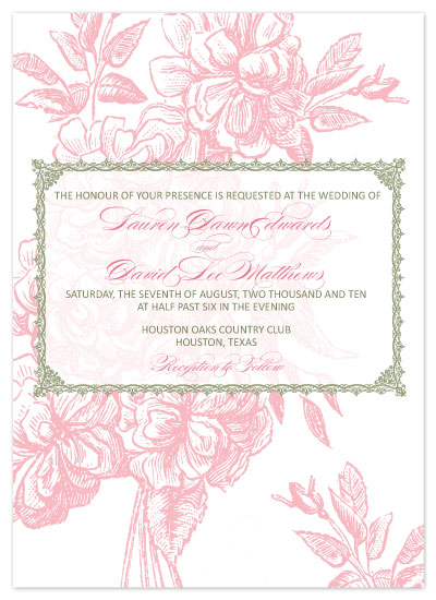 wedding invitations - Vintage Romance by Peach Blossom Paperie