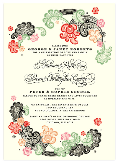 wedding invitations - Paso Doble by Hello & Co.