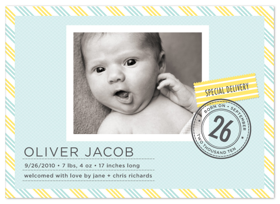 birth announcements - Special Delivery by j.bartyn