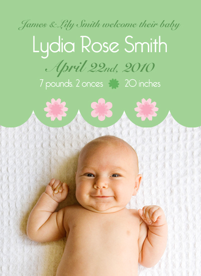 birth announcements - Delicate Flower by Ashley Hay