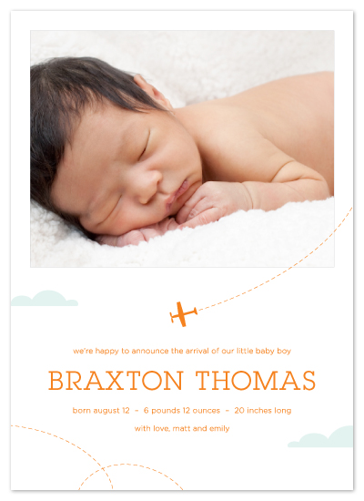 birth announcements - little aviator by Laura Coggins