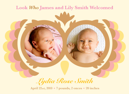 birth announcements - Look Whoooo by Ashley Hay
