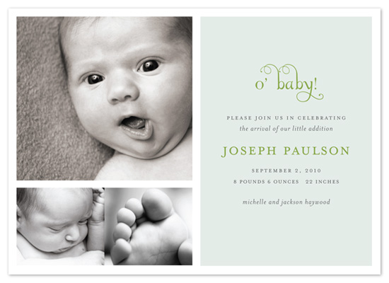 birth announcements - o' baby! by Emily Ranneby