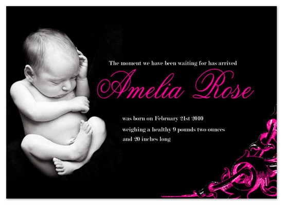 birth announcements - Baby Rose by Sharise Williams