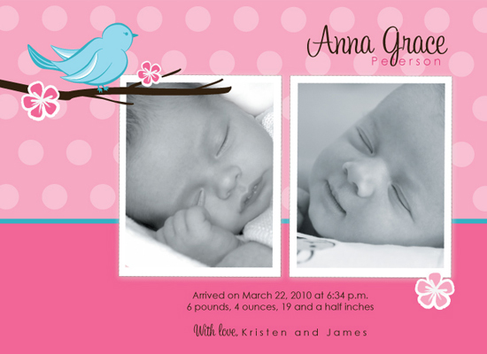 birth announcements - Spring Song by Baby Card Expressions