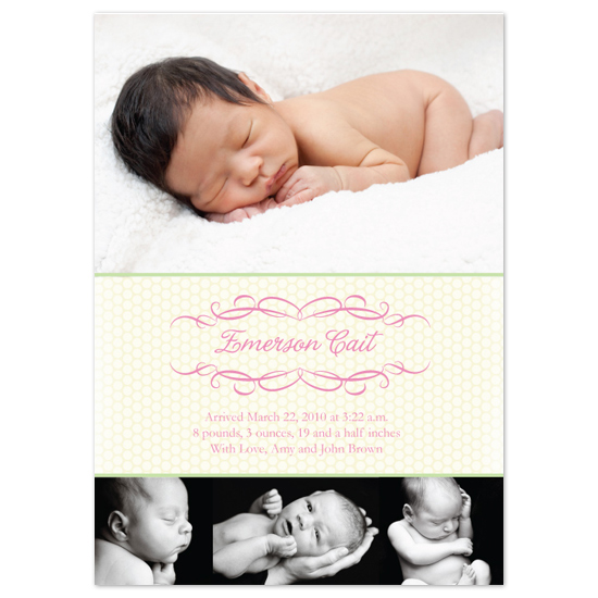 birth announcements - Perfection by Baby Card Expressions