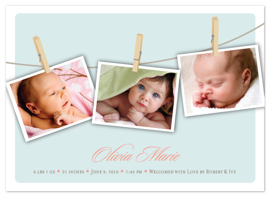 birth announcements - Love On The Line by Lisa Razza
