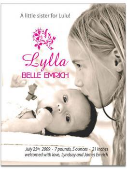Little Sister Birth Announcement