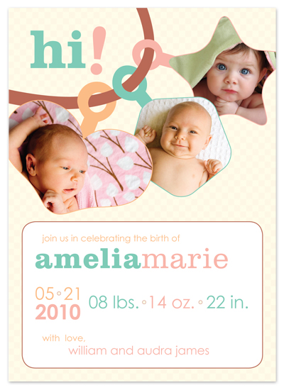 birth announcements - Babies in All Shapes by gibberish ink