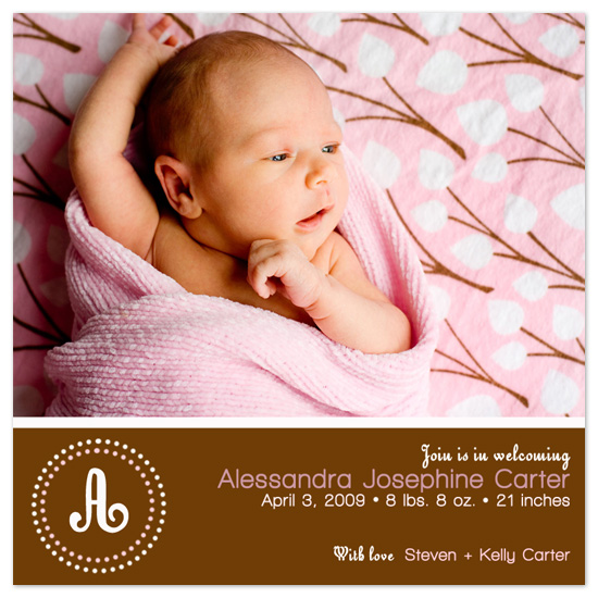 birth announcements - Pink Polka by Christy Vance